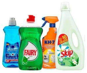 Productos de limpieza baratos de grandes marcas