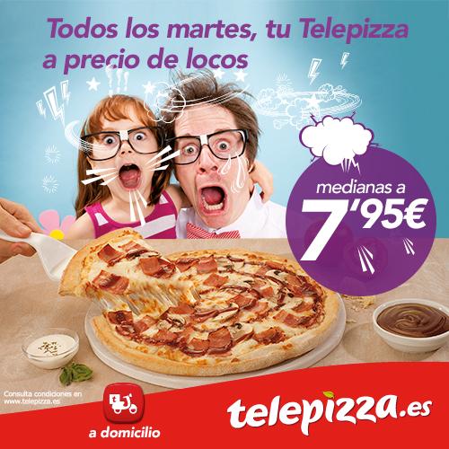 Martes Locos de Telepizza 2016