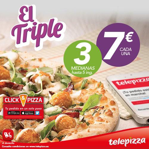 Oferta El Triple de Tele pizza