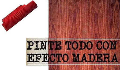 pintar efecto madera veteador