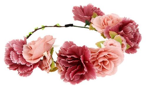 diadema flores boda