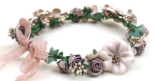 diadema flores novia
