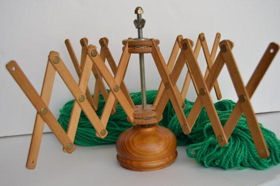 devanadora de lana de madera