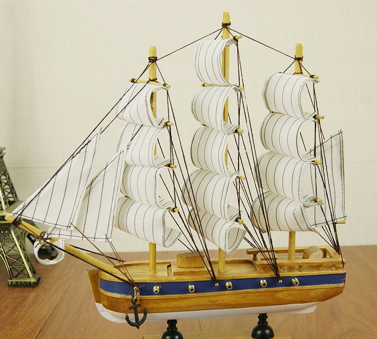 barcos de madera para decoracion