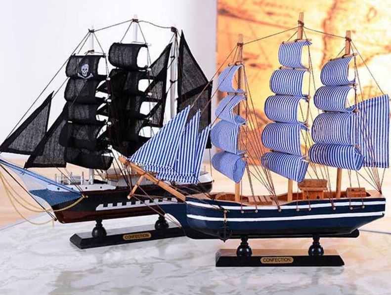 comprar barco madera decoracion