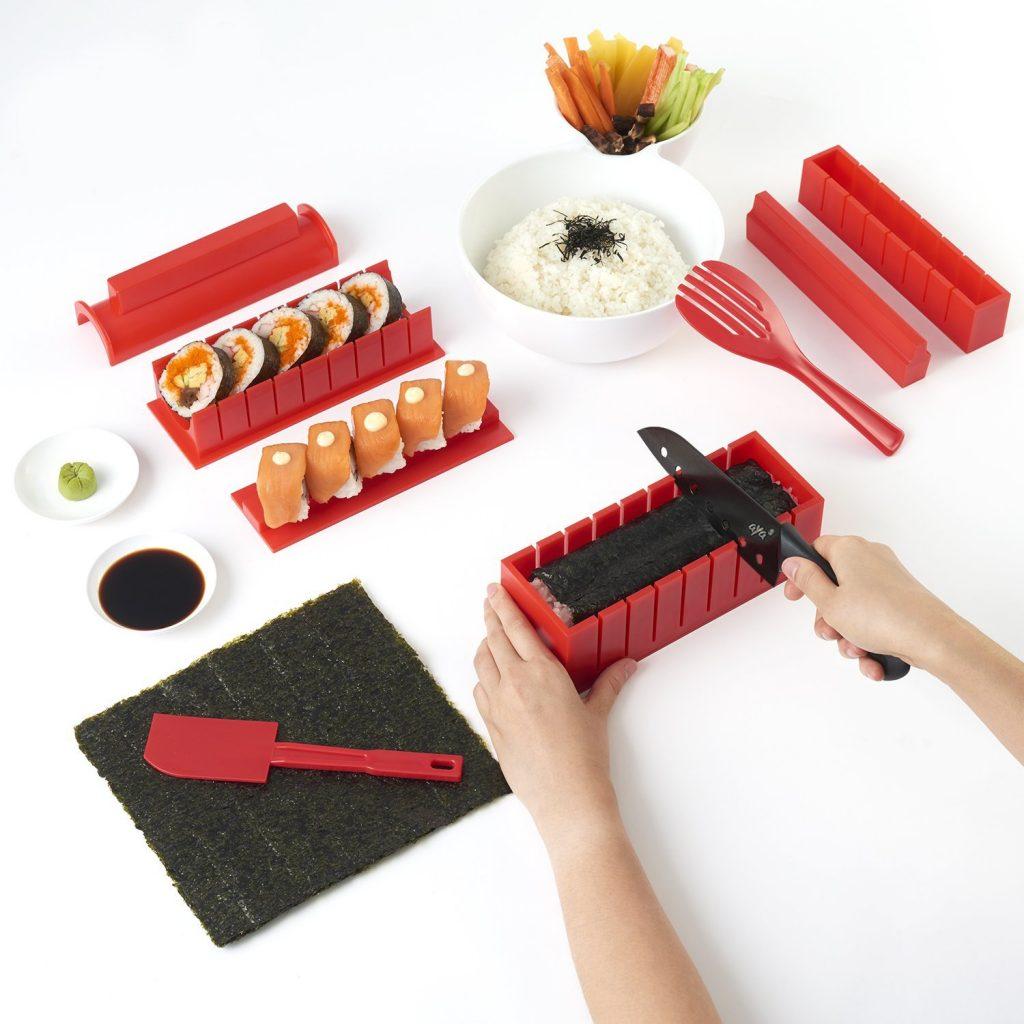 utensilios para hacer sushi